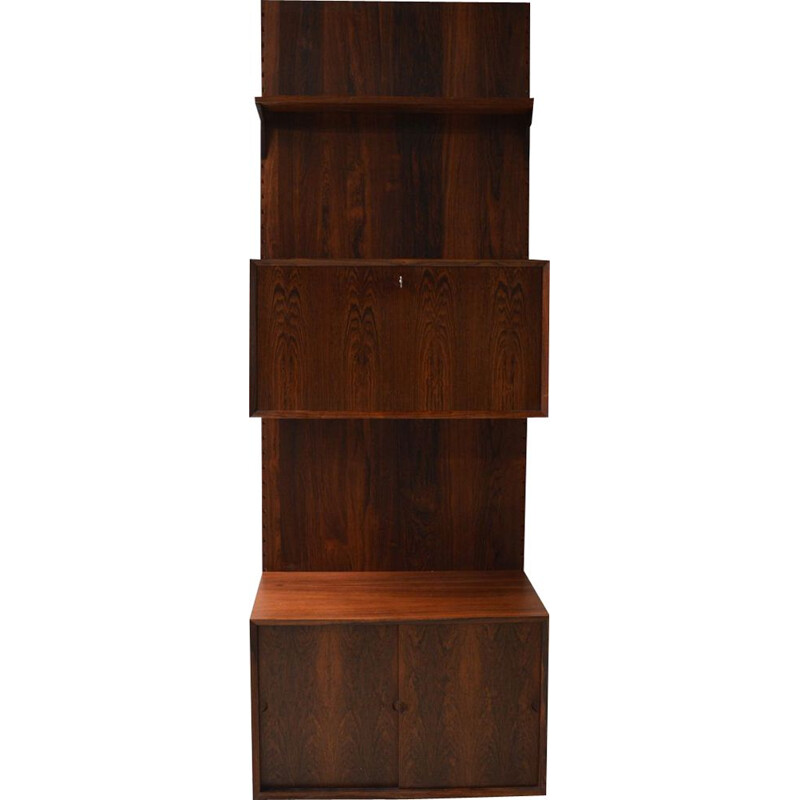 Vintage Royal System rosewood wall unit by Poul Cadovius, 1968