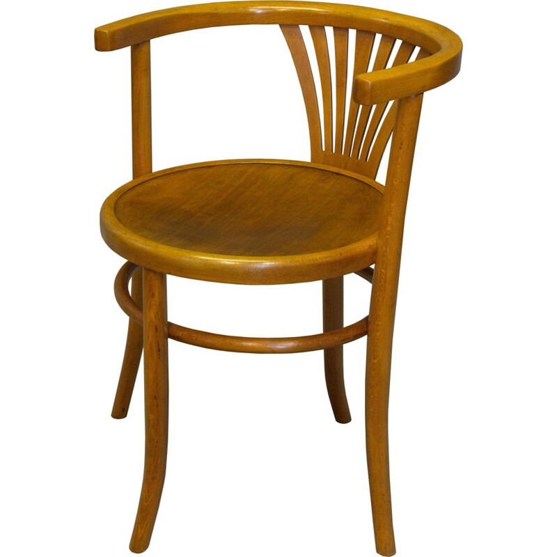 Vintage dining chair model B28 by Thonet from Fischel, 1930s