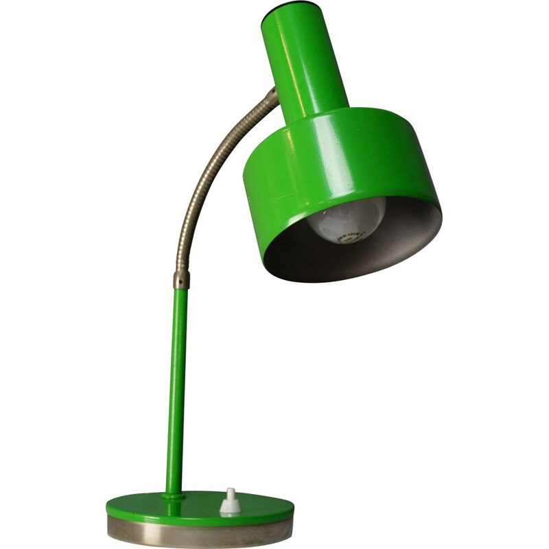 Green vintage articulated lamp in chromed metal 1960