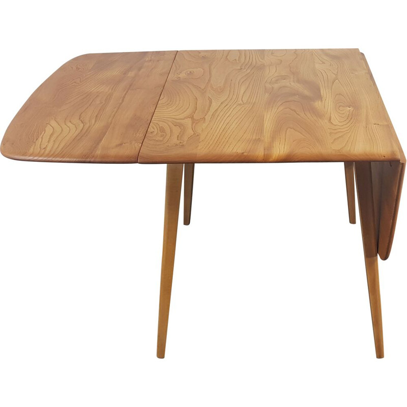 Vintage Ercol square drop leaf dining Table, 1960s