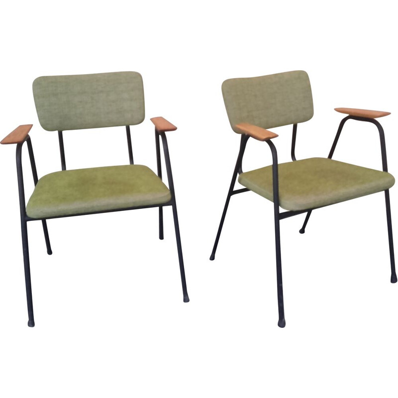 Pair of vintage armchairs by Pierre Guariche 1950-1960