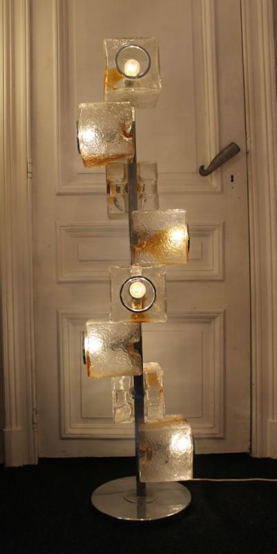 Mazzega Floor Lamp In Murano Glass Veart 1970s Design Market