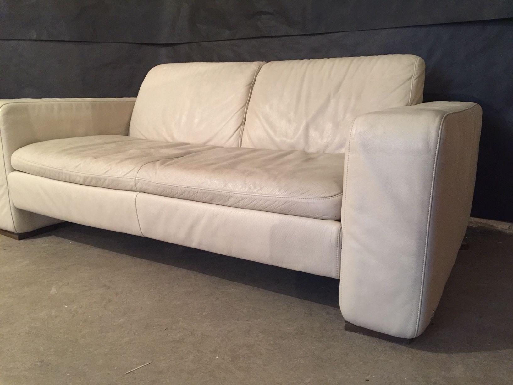 Vintage White Cream Sofa By Natuzzi Italy Design Market