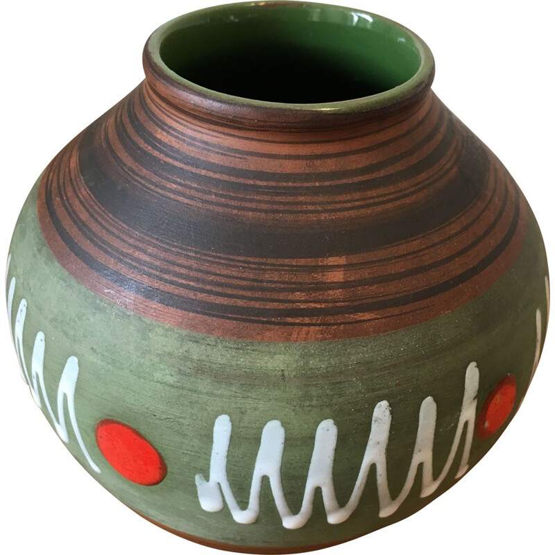 Vintage ceramic vase, West Germany, 1970s