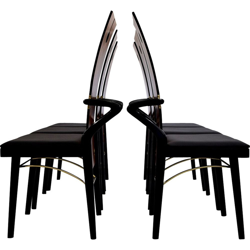 Set of 6 vintage Dining Chairs by Pierre Cardin