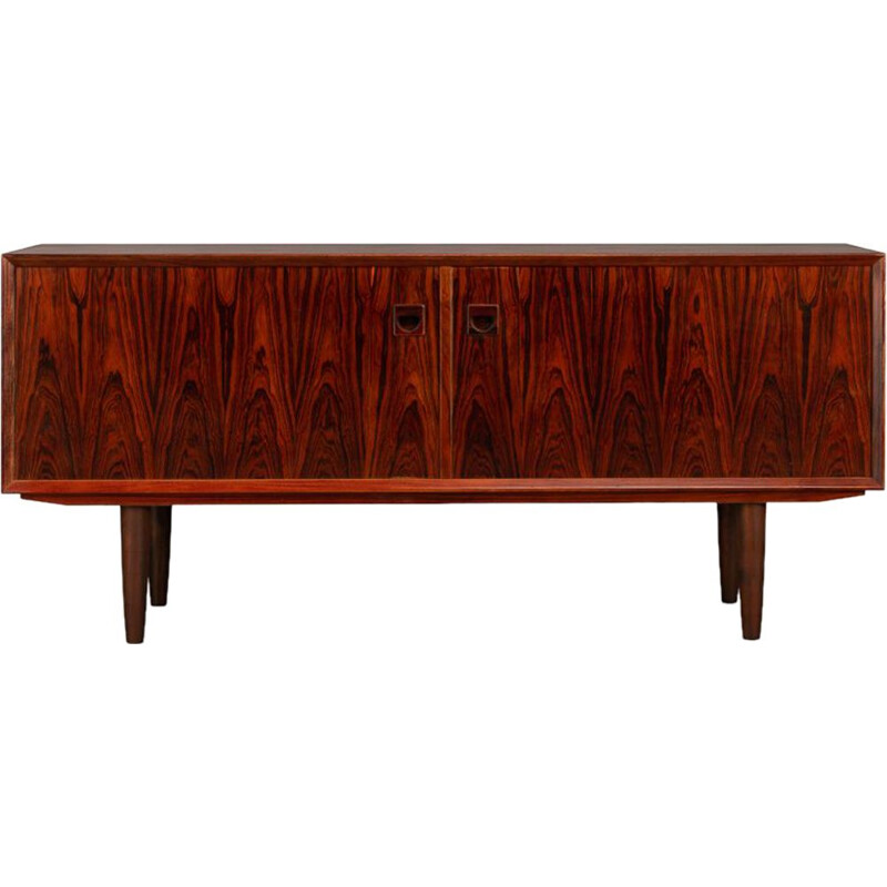 Vintage Danish Expressive Rosewood Low Sideboard by E. Brouer for Brouer Møbelfabrik, 1960s