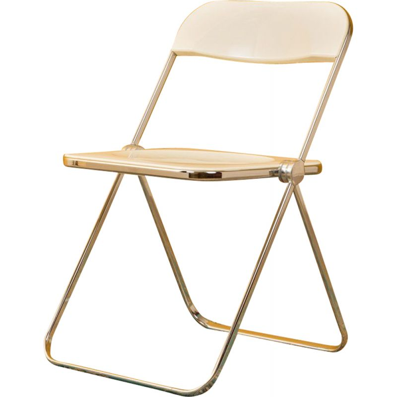 Vintage folding chair in chrome metal by Castelli 1960s