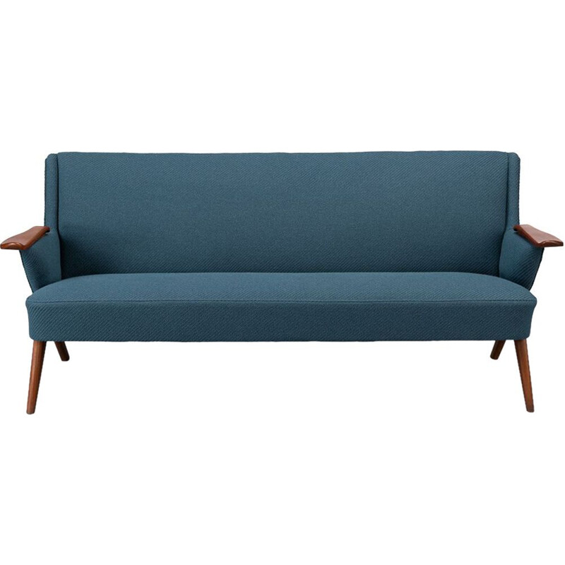 Vintage Danish blue sofa by Johannes Andersen for CFC Silkeborg, 1960s