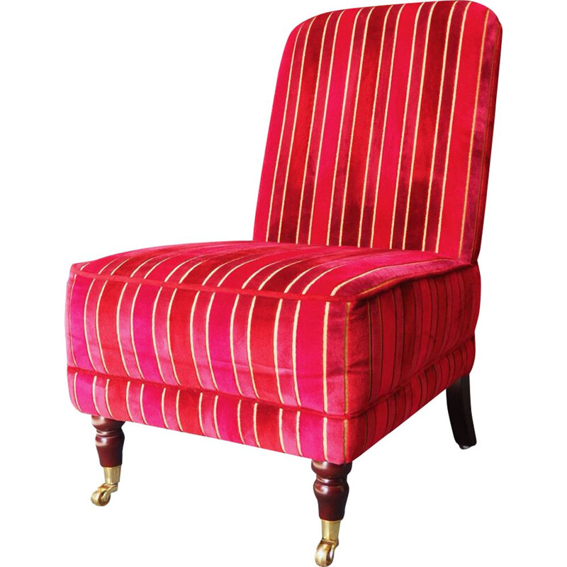 Vintage Alderney red armchair by Laura Ashley Home