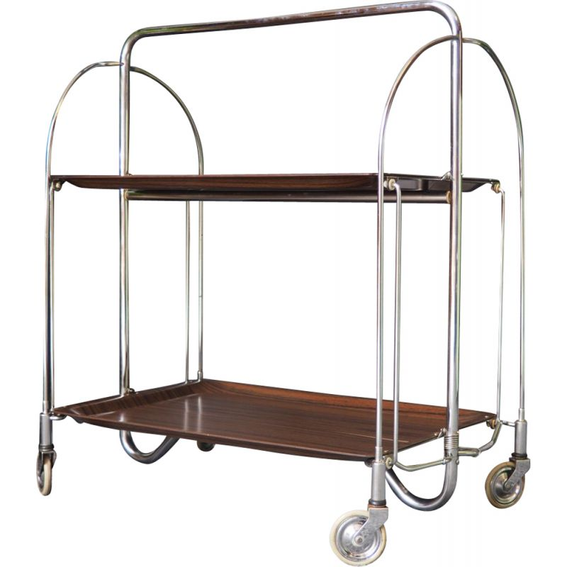 Vintage Gerlinol style Collapsible tea trolley 1950s