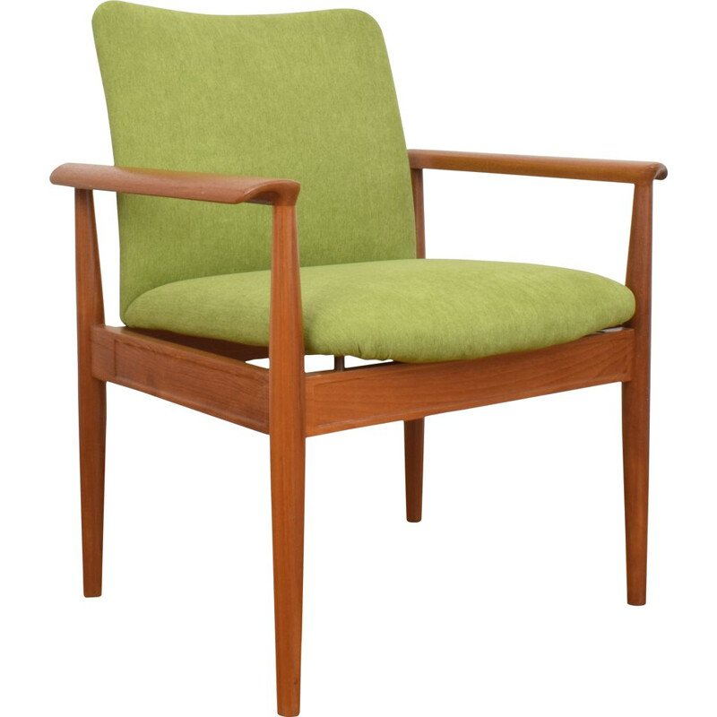 Vintage diplomat teak armchair by Finn Juhl for France & Søn, 1950s