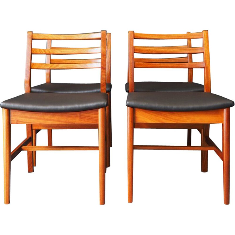 Set of 4 vintage teak dining chairs by  A&FH Furniture