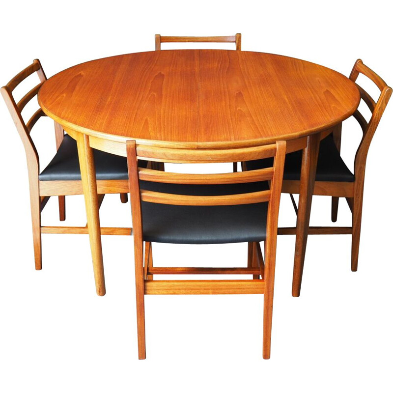 Vintage dining set with extending table by A&FH Furniture