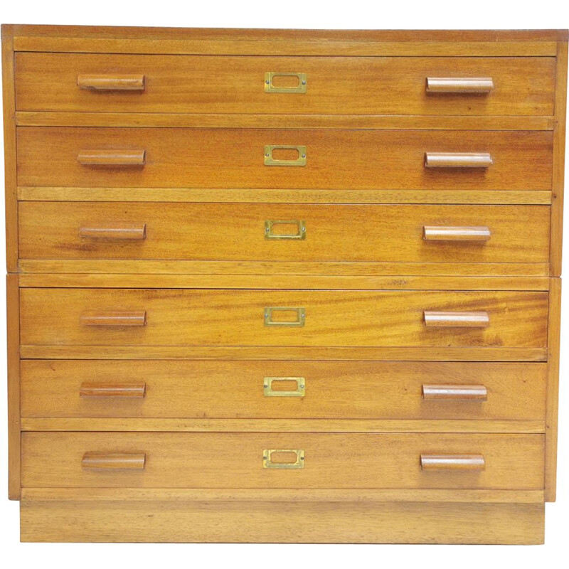 Oak vintage chest of drawers, 1940s