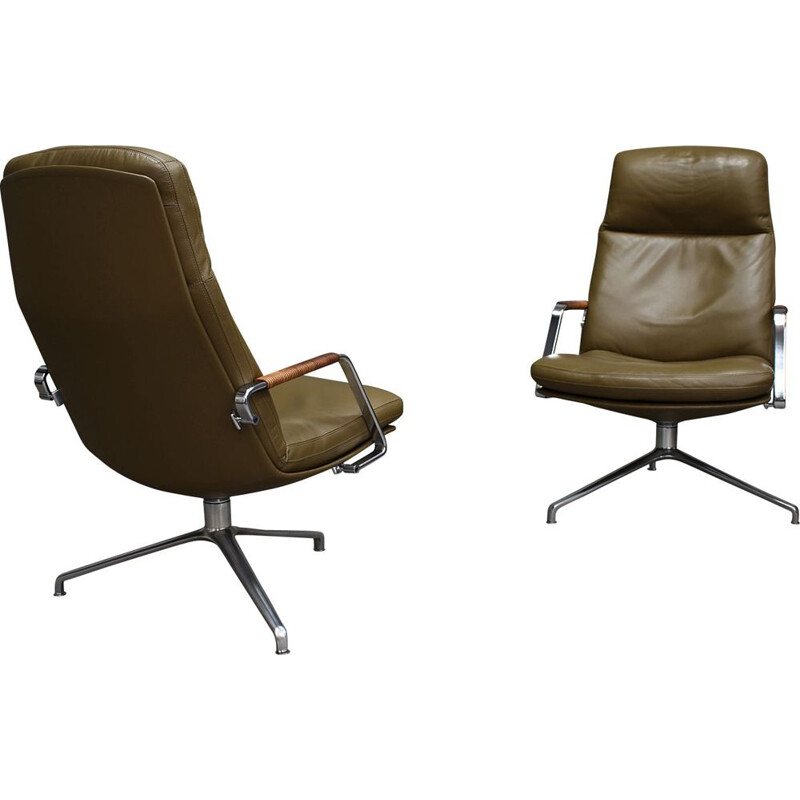 Pair of vintage FK-86 lounge chairs by Fabricus and Kastholm, 1968