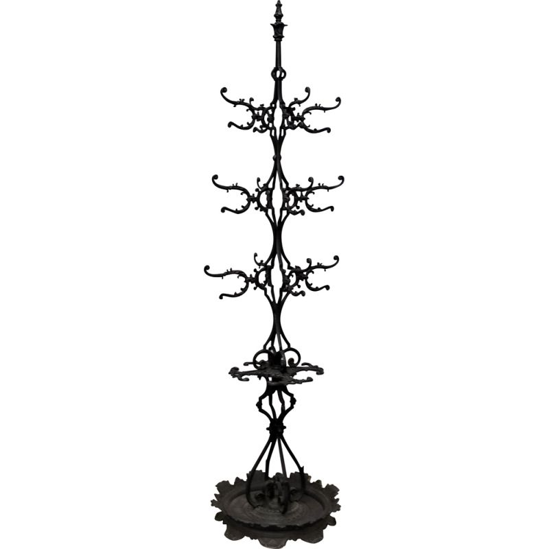 Vintage iron coat rack