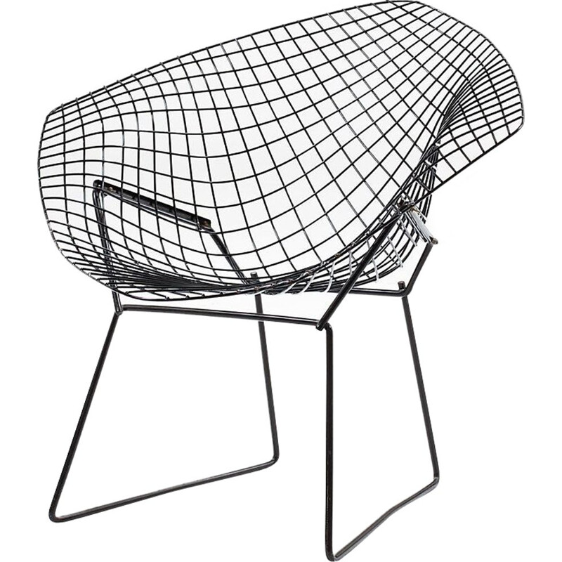 Pair of Vintage Diamond Armchairs by Harry Bertoia for Knoll
