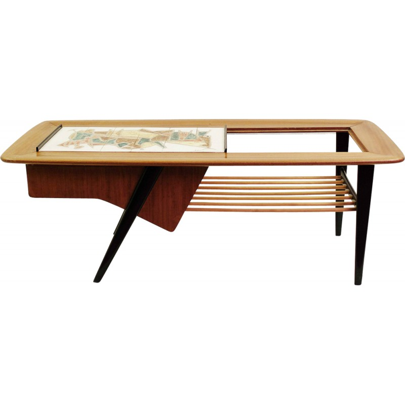 Belform Coffee Table In Rosewood And Ceramic Alfred Hendrickx