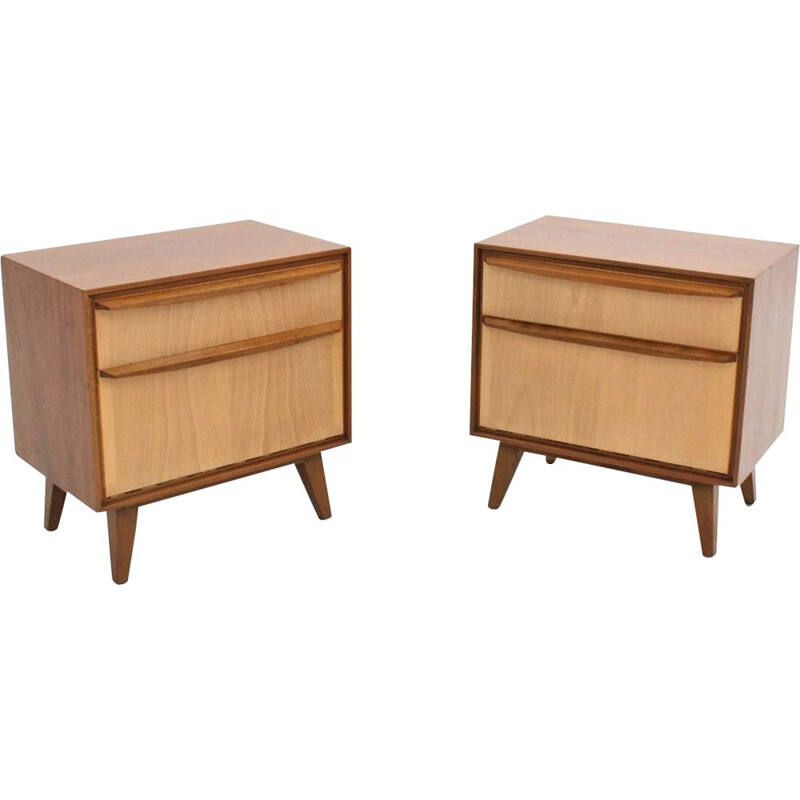 Vintage teak nightstands, 1960s