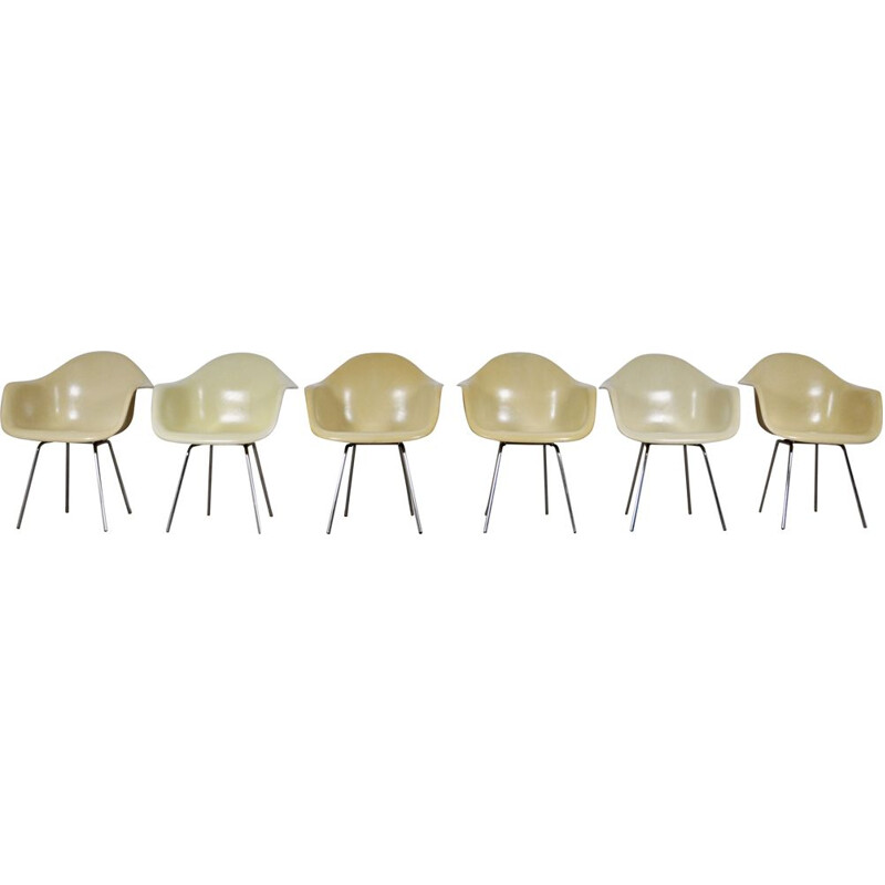Set of 6 vintage dining chairs by Charles and Ray Eames for Herman Miller, 1960s
