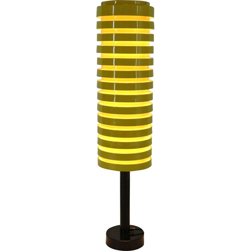 Scandinavian yellow vintage floor lamp by Hans Agne Jakobsson for Markaryd, 1960