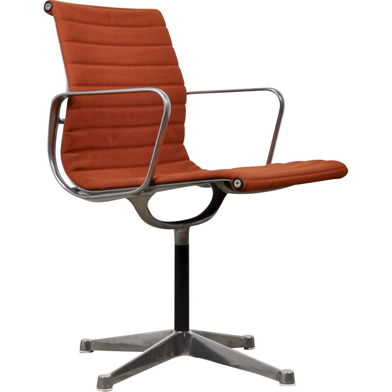 Vintage orange armchair by Charles & Ray Eames for Herman Miller, 1960s