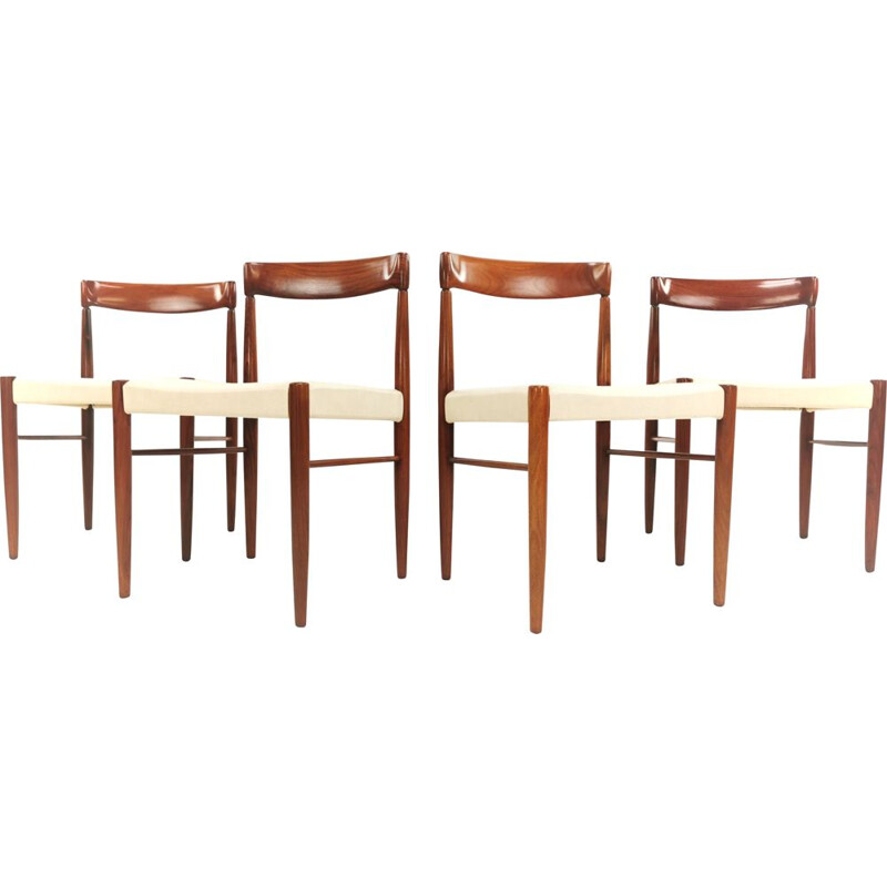 Set of 5 vintage Teak Dining Chairs by H.W. Klein for Bramin, 1960s