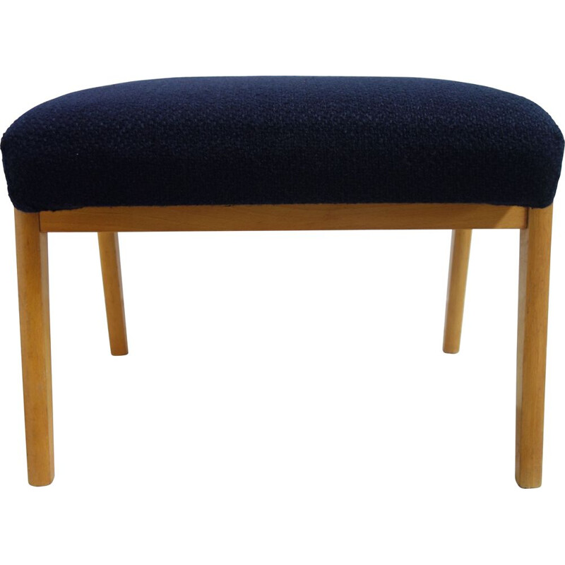 Vintage dark blue footstool, 1960s