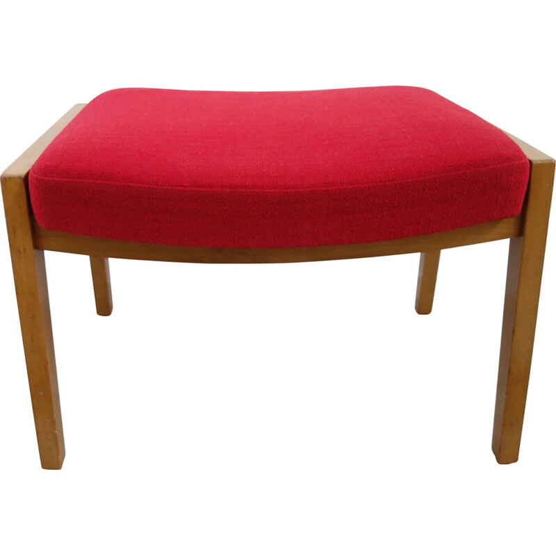 Vintage Red footstool, 1960s