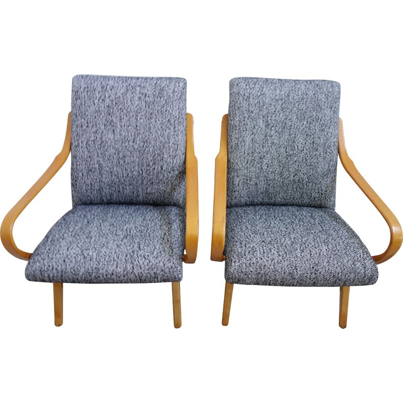 Pair of vintage armchairs by J. Smideck for TON, 1960s