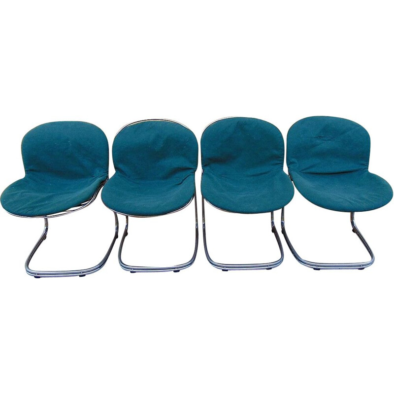 Set of 4 vintage Sabrina chairs by GASTONE RINALDI