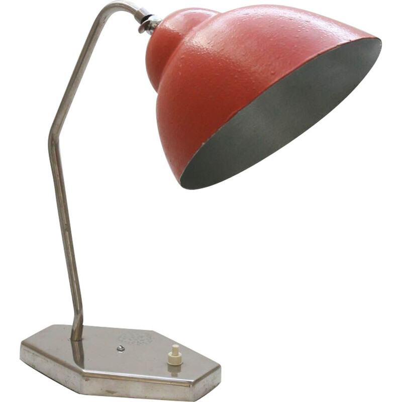 Vintage crimson table lamp from Inkop, 1960s