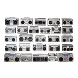 Vintage collection of 27 boomboxes - 1980s