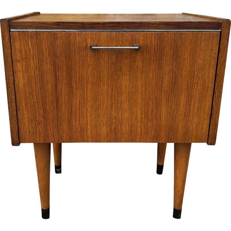 Vintage nightstand on tapered legs by SEMB, 1960s