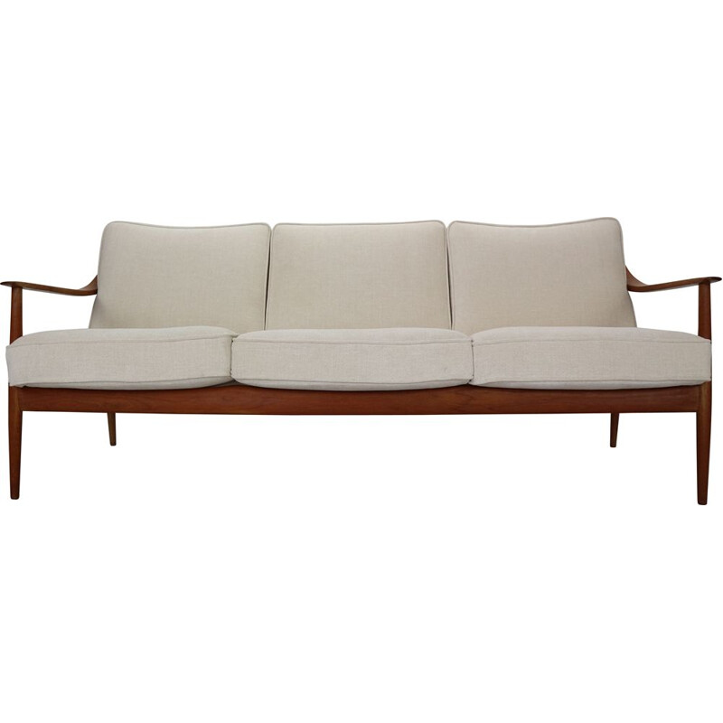 Vintage Teak 3-Seater Sofa by Knoll Antimott from Willhelm Knoll, 1960s