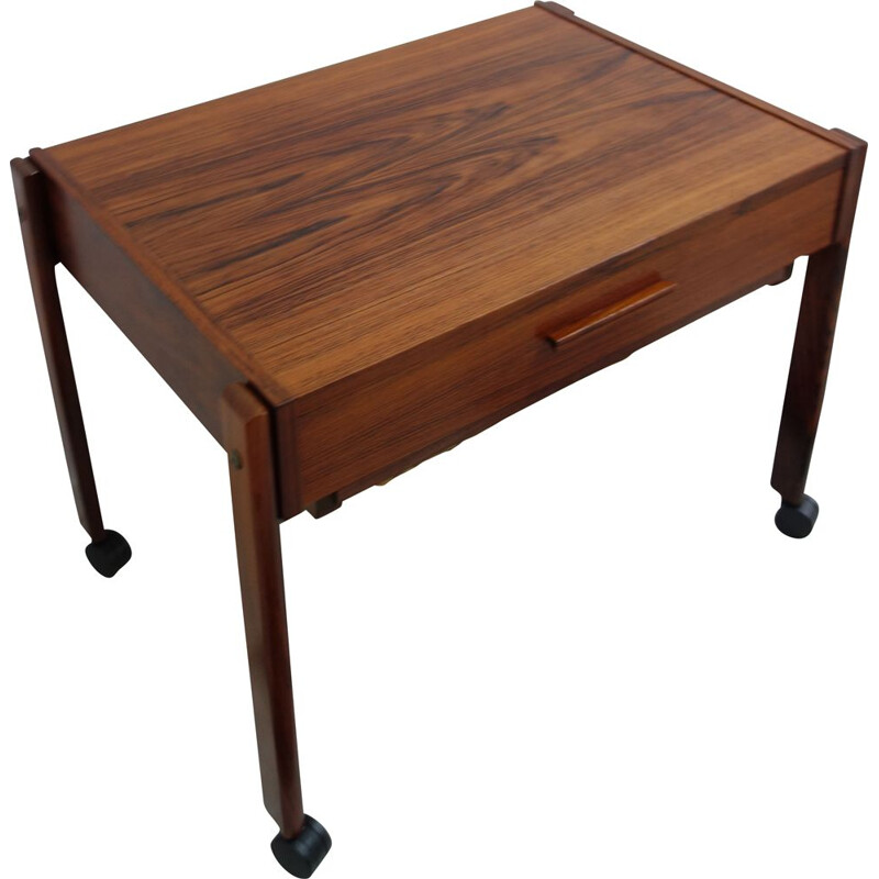 Vintage rosewood sewing table, Denmark, 1960s