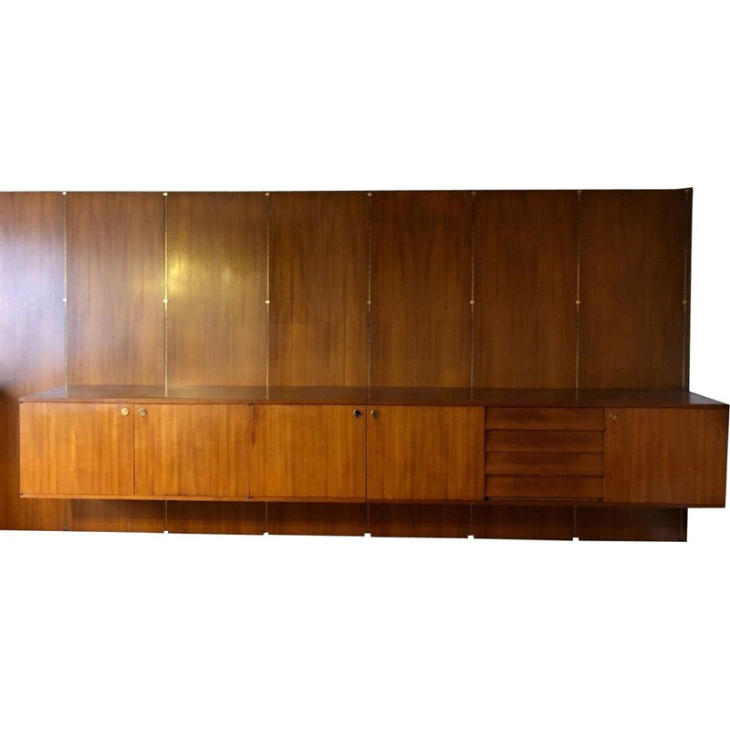 Vintage modular bookcase by Louis Paolozzi, 1950s
