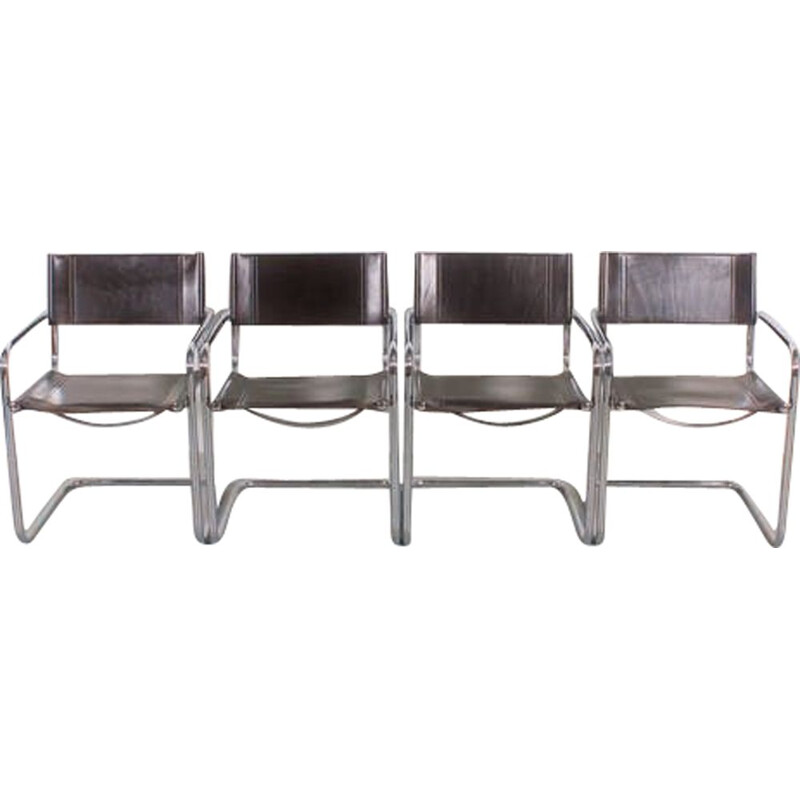 Set of 4 Vintage S34 chairs by Mart Stam, 1980s