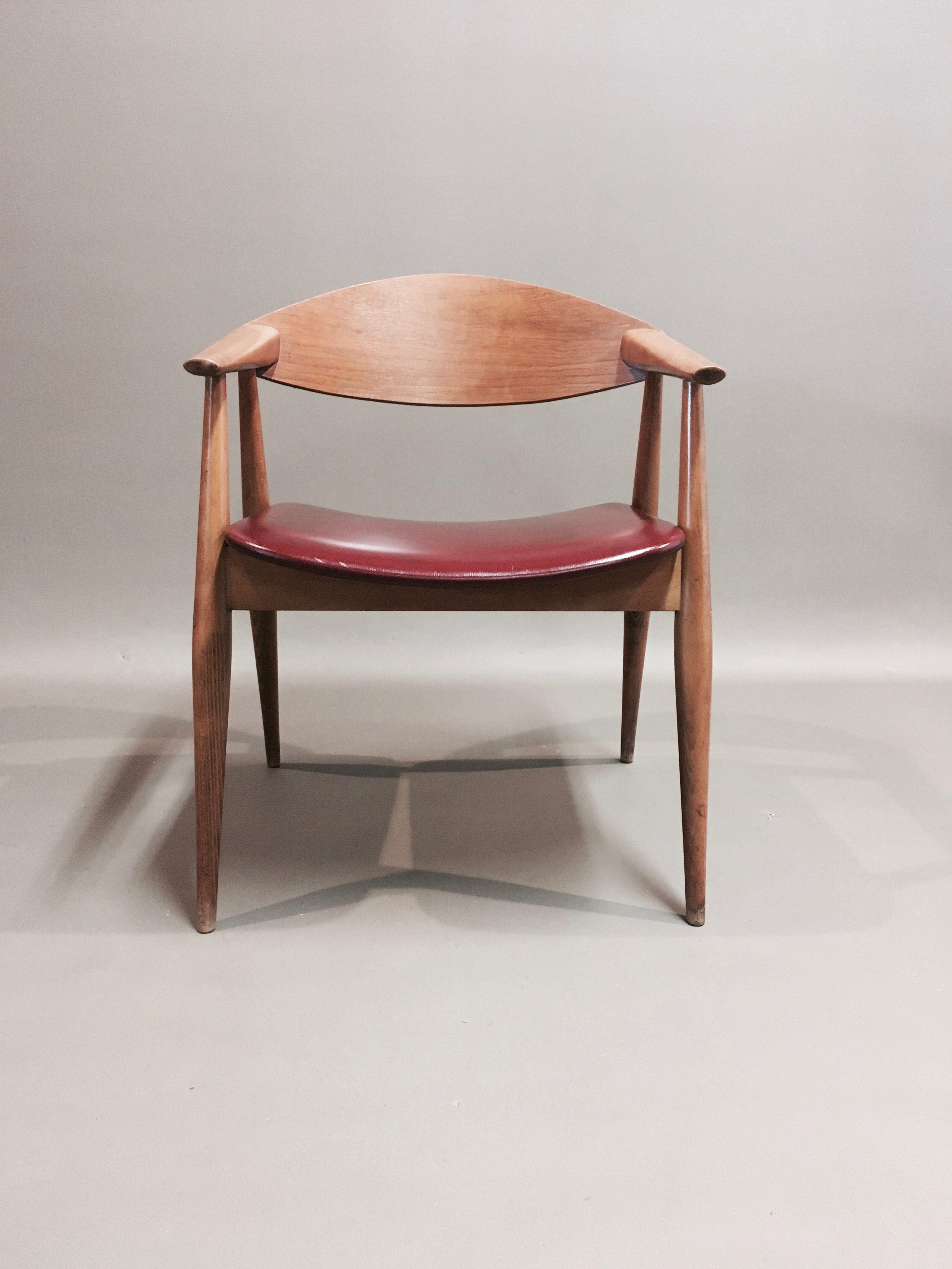 Vintage large armchair with Scandinavian design, 1950 ...