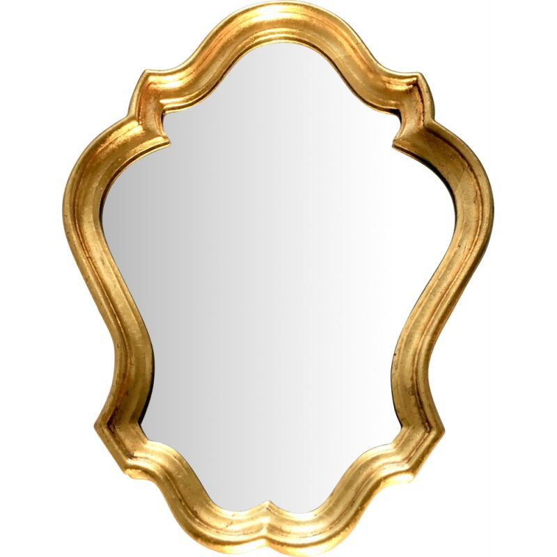 Vintage carved and gilded wood mirror