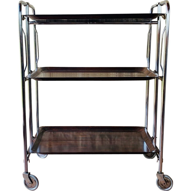 Vintage 3 tier bar cart from France 1970