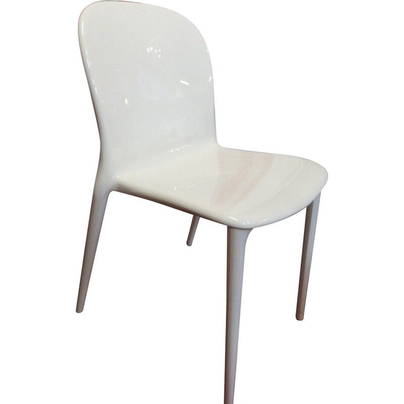 """Vintage white """"Kartell"""" polycarbonate chair"""