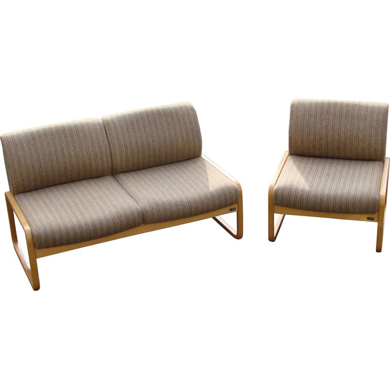 Vintage sofa and armchair by Wilkhan , 1970s