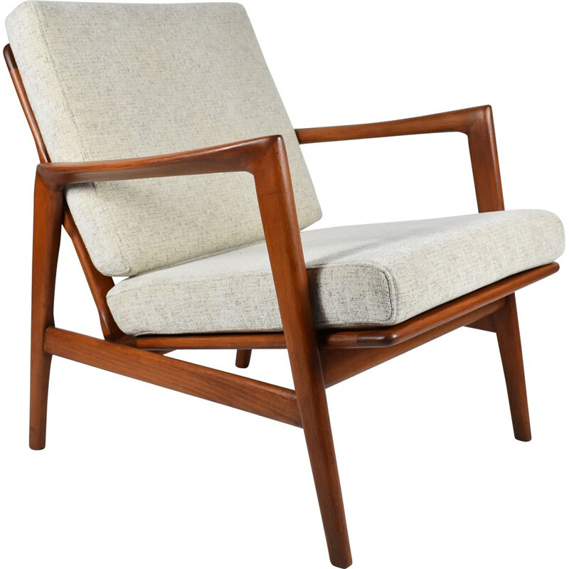 Vintage Scandinavian Stefan armchair type 300-139 by Swarzędzka Furniture Factory, 1960s