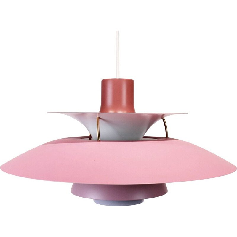 Pink vintage PH5 pendant lamp by Poul Henningsen and Louis Poulsen