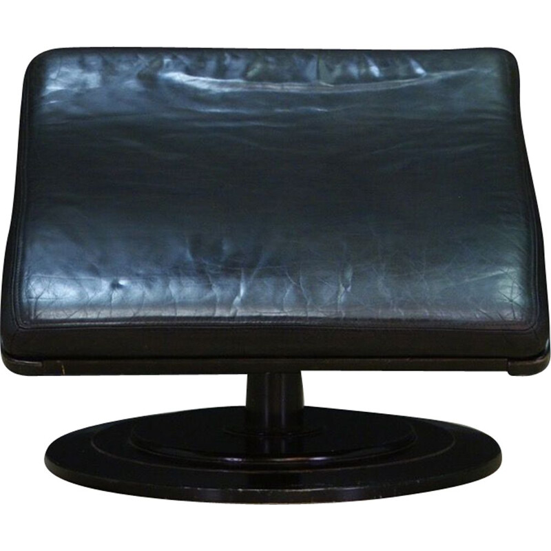 Danish vintage foot rest in leather