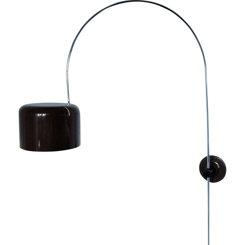 Brown Coupé wall lamp by Joe Colombo for Oluce, Italy 1967