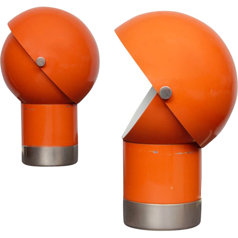 Pair of vintage lamps by Pavel Grus for Kamenický Šenov, 1970