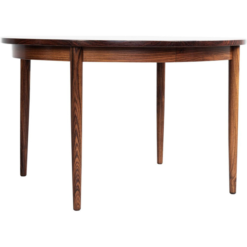 Vintage extendable round dining table in rosewood by Skovby, 1960s