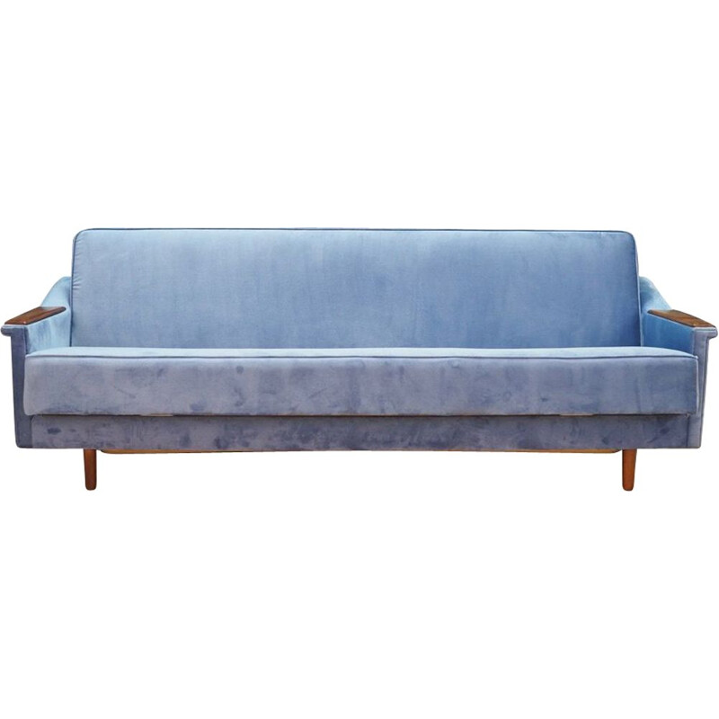 Vintage day-bed sofa in fabric, 1960-70s